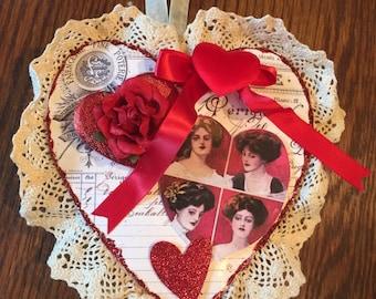 Handmade Vintage style Valentine