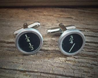 Typewriter Key Cuff Links