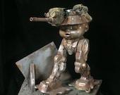 Baby Mech Tankhead walker custom action figure wasteland warrior diorama