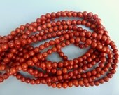 Red Sponge Coral Beads, 6MM Red Coral Beads, 6MM Sponge Coral Round Beads, Red Coral Beads 6MM, 6MM Round Sponge Coral, 7MM Sponge Coral