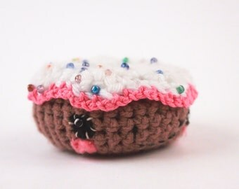 Amigurumi Doughnut Crochet plush Desert CUTE!