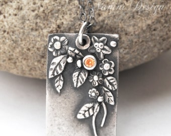 Spring - Fine/sterling silver pendant