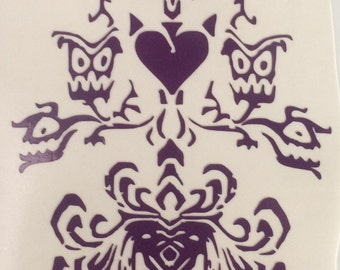 Haunted Mansion wall paper Disneyland inspired vinyl sticker decal car window sticker