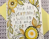 Anniversary card, Fun and Whimsical, Floral, greeting card, Love, Cori Dantini