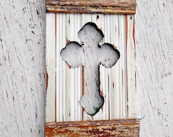 Serbian Orthodox Cross. Wood Wall Cross, White Cross, Distressed Cross, Boho Cross, Reclaimed Wood Cross, Christian Decor Bohemian Wall Art