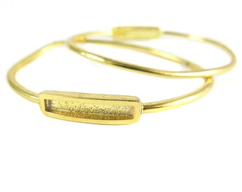Vintage Gold Plated Cuff Bracelet Findings (F554)