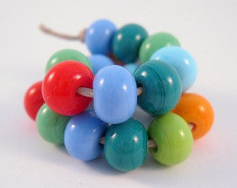 SRA Lampwork Beads Bright Fiesta Mix