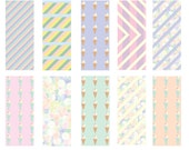 I dream of ice-cream - Seamless Pattern Digital Download Prints - Set of 10 Paper Pack - jpeg files