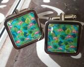 Vintage Flamingo design Cufflinks