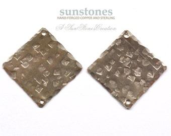 Handmade Nickel Silver Earring Components - 2 pieces EC184