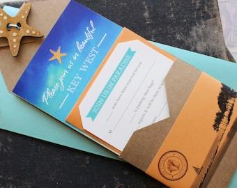 Travel Brochure Wedding Invitation (Key West, Florida) - Design Fee