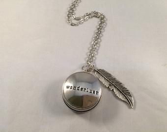 Wanderlust Necklace Compass Necklace Graduation Gift