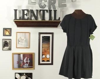 black upcycled tunic