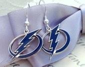 Lightning Bolt earrings - Sterling earwires - Tampa Bay Lightning Hockey