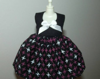 Skulltooth mini dress for Blythe, Licca doll