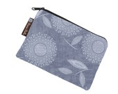 Catch All Bag holds chargers - cords - make up - collections - hard drives - FAST SHIPPING - Dandelion Wishes Gray Fabric