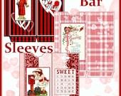 Vintage Valentine Candy Bar Sleeves Set of 3 Digital Printable INSTANT DOWNLOAD