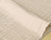 Japanese Fabric triple gauze - natural beige - 50cm