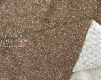 Japanese Fabric Heather double knit - brown - 50cm