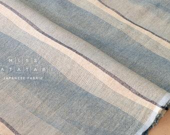 Japanese Fabric - yarn dyed yoroke waves - F - 50cm