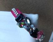 DOG Collar/ Bridal/ Ornate/ rose pink