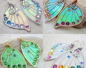 SALE! Design Your Own Faery Wing Earrings - Custom Fairy Wing Jewelry - Pick Your Colors