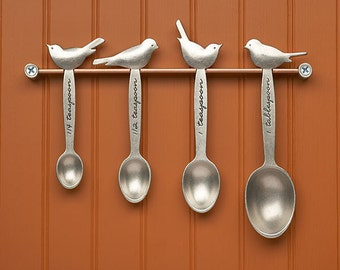bird measuring spoons