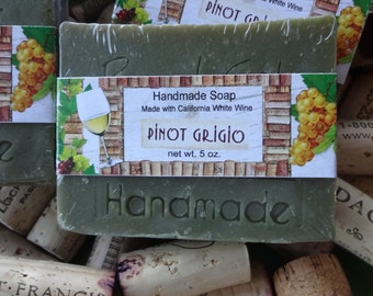 Pinot Grigio Wine Handmade Cold Process Soap