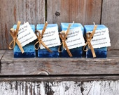 Set of 4 Oceanside Scented Small Square Pillar Candles