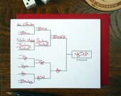 letterpress love champion sports fantasy football bracket greeting card beer vegas bowling you red & black