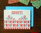 letterpress shoot! i missed... your birthday belated birthday greeting card carnival shooting gallery