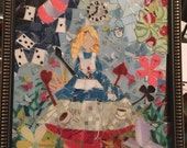 Sold to kimberly* alice in wonderland upcycled mosaic