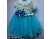 Crochet Dress Pattern - Tutu Pattern - 5/6  7/8 10/12 14/16 - Young Girls Dress Pattern - KrissysWonders - Free Crochet Pattern if u by 2