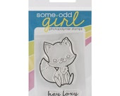 Some Odd Girl Clear Cling Rubber Stamp Set - Hey Foxy