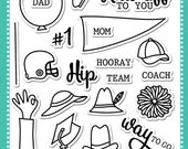 Avery Elle Clear Photopolymer Rubber Stamp Set - Hats Off