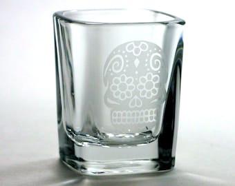Sugar Skull shot glass - Day of the Dead
