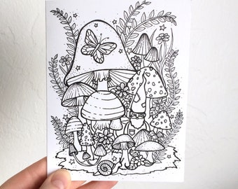 Gnome Coloring Card