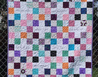 Woman of Faith Quilt Healing quilt positive affirmations stitched words