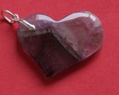 Genuine, Authentic Auralite-23 HEART PENDANT w. Sterling Silver Bail - Ideal Gift for any Occasion #1403