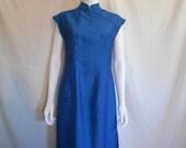 Cheongsam dress, blue dress, Asian dress