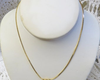 1010 - Vintage Herringbone Necklace Chain - 15 in.