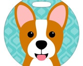 Luggage Tag - Corgi - Round Plastic Bag Tag