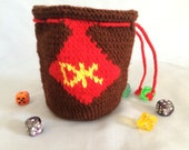 Donkey Kong dice bag/pouch
