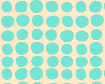 CLEARANCE 1 Yard Amy Butler Love Sun Spots Turquoise Dots