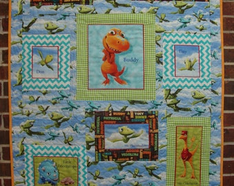 ON SALE Buddy Children's Dinosaur Quilt Cotton