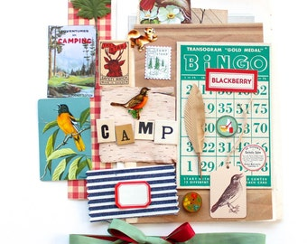 Vintage Camping Vacation Paper Inspiration Pack