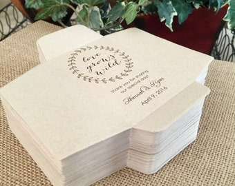 DIY Custom Seed Packets, Custom Envelope, Kraft, Personalized Envelopes, Wedding Favors, Bridal Shower, Seed Packet, Let Love Grow