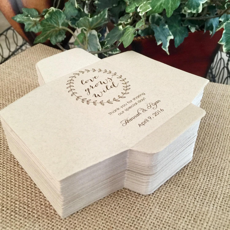 diy custom seed packets sunflower envelope kraft personalized