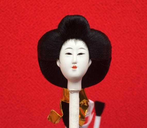 Japanese Doll Head - Woman - Hina Doll - Hina Matsuri - Japanese Doll Festival - Girl Doll Head - Queen D10-3 Mini Size