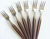 Forks - Scandinavian Style Flatware by Eldan - Made in Japan - Brown